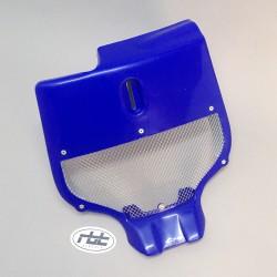 Plaque frontale ventilée bleue